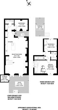 Large floorplan for Bristol Gardens, Little Venice, W9