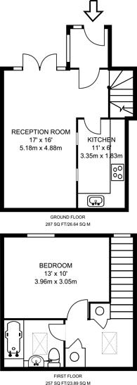 Large floorplan for Doves Yard, Islington, N1