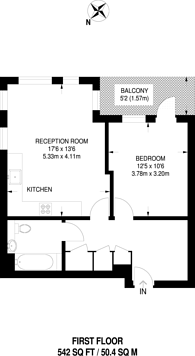Large floorplan for Cable Walk, Greenwich, SE10