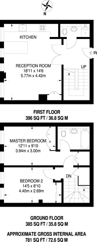 Large floorplan for The Downs, Raynes Park, SW20