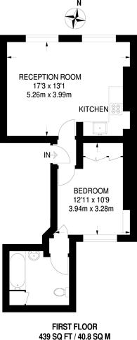 Large floorplan for Chesterton Road, Ladbroke Grove, W10