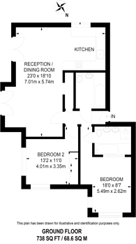 Large floorplan for Uplands Road, Merrow, GU1