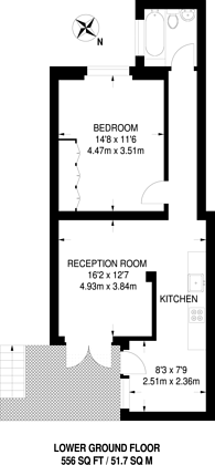 Large floorplan for Colville Road, Notting Hill, W11