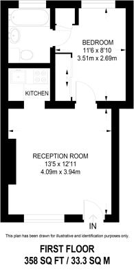 Large floorplan for Allitsen Road, St John's Wood, NW8