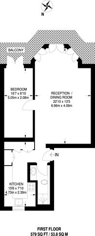 Large floorplan for Egerton Gardens, Chelsea, SW3