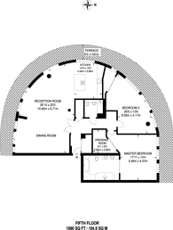 Large floorplan for Chelsea Bridge Wharf, Battersea Park, SW11