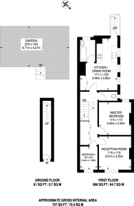 Large floorplan for Kettering Street, Furzedown, SW16