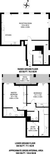 Large floorplan for Breams Buildings, Holborn, EC4A