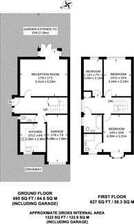 Large floorplan for Squirrels Close, Woodside Park, N12