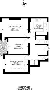 Large floorplan for Sulivan Court, Broomhouse Lane, Parsons Green, SW6