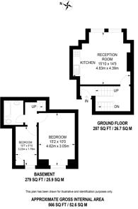 Large floorplan for Park Lane, Croydon, CR0