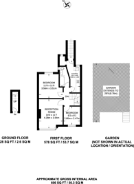 Large floorplan for Oakleigh Road North, Whetstone, N20