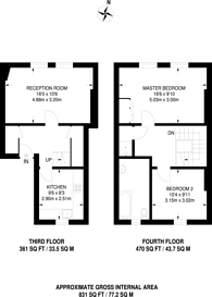 Large floorplan for St Giles High Street, Covent Garden, WC2H