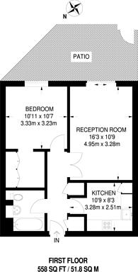 Large floorplan for Lamb Court, Limehouse, E14