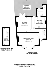 Large floorplan for Taybridge Road, Clapham, SW11