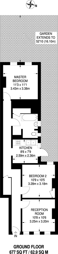 Large floorplan for Hitcham Road, Walthamstow, E17