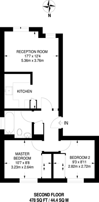 Large floorplan for Tollgate Road, Beckton, E6