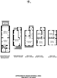 Large floorplan for Trevor Place, Knightsbridge, SW7
