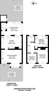 Large floorplan for Murray Square, Canning Town, E16