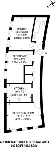 Large floorplan for Constable Close, Friern Barnet, N11