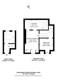 Large floorplan for Denton Road, Crouch End, N8