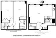 Large floorplan for The Downs, Wimbledon, SW20