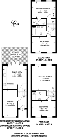 Large floorplan for Andover Place, Maida Vale, NW6