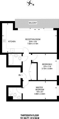 Large floorplan for Elektron Tower, Canary Wharf, E14