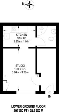 Large floorplan for Boscombe Road, Shepherd's Bush, W12