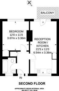 Large floorplan for Shaftesbury Street, Shoreditch, N1