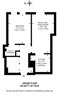Large floorplan for Regency Street, Pimlico, SW1P