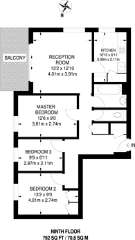 Large floorplan for Welshpool Street, Broadway Market, E8