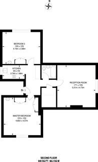 Large floorplan for Oakdale Road, Streatham, SW16