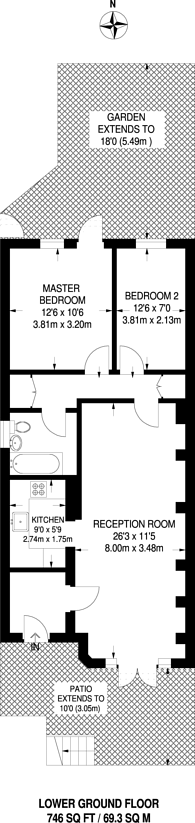 Large floorplan for Valleyfield Road, Streatham, SW16