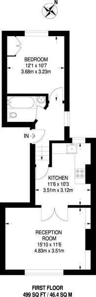 Large floorplan for Landor Road, Brixton, SW9