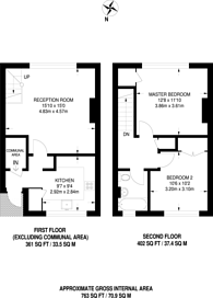 Large floorplan for Windrush Close, Chiswick, W4