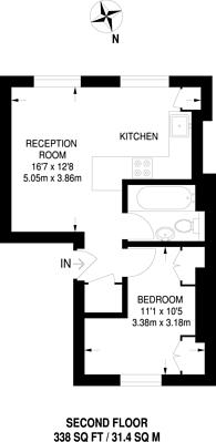 Large floorplan for St Pancras Way, Camden Town, NW1