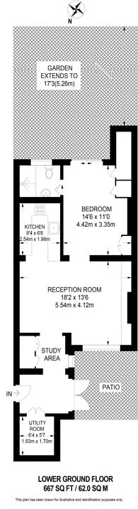 Large floorplan for Fairholme Road, Barons Court, W14