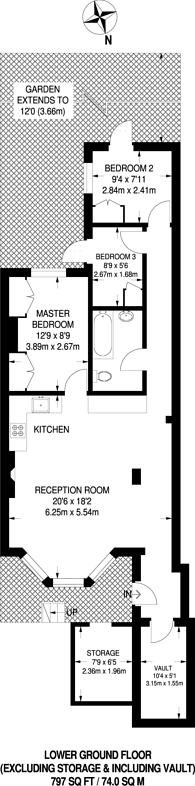 Large floorplan for Maclise Road, Brook Green, W14