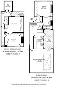Large floorplan for Sydney Street, Chelsea, SW3