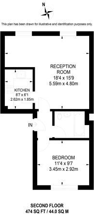 Large floorplan for Westbourne Gardens, Notting Hill, W2