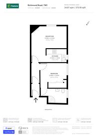 Large floorplan for Richmond Road, East Twickenham, TW1