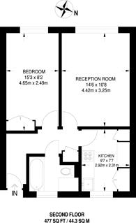 Large floorplan for Durban Court, Upton Park, E7