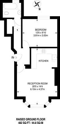 Large floorplan for St James's Road, Croydon, CR0