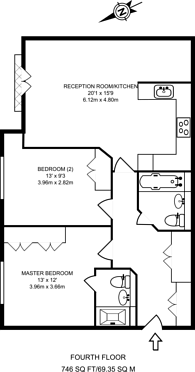 Large floorplan for Maida Vale, Maida Vale, W9