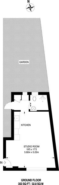 Large floorplan for Rushden Gardens, Mill Hill, NW7