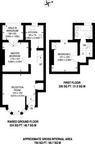 Large floorplan for Burstock Road, Putney, SW15