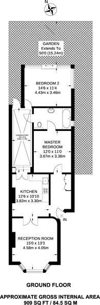 Large floorplan for Wolseley Gardens, Grove Park, W4