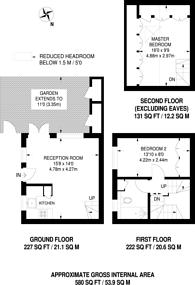 Large floorplan for Chardwell Close, Beckton, E6