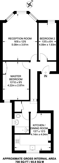 Large floorplan for Clapham Road, Clapham North, SW9